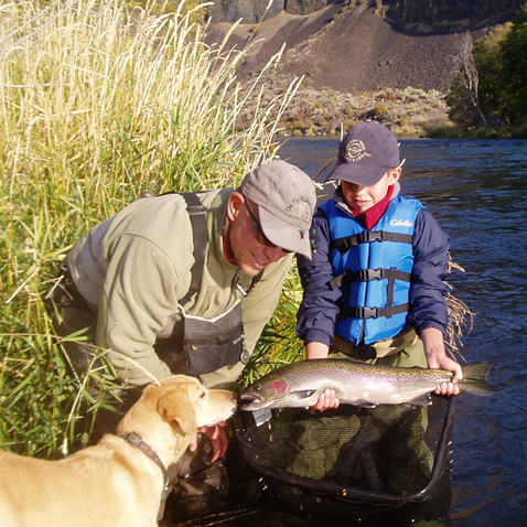 Kids Fly Fishing Crooked River